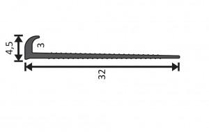 Abschlussprofil grau / 400cm