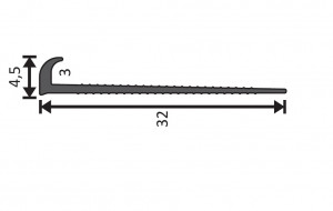 Abschlussprofil schwarz / 400cm